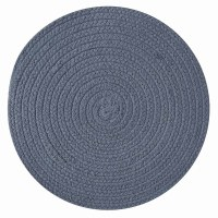 "15"" Round Marine Blue Essex Placemat"