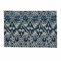 "13"" x 19"" Navy and White Samira Printed Placemat"