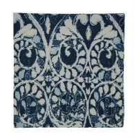 "20"" Square Navy and White Samira Printed Cloth Napkin"