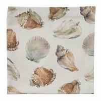 """20"""" Square White Seashells Cloth Napkin"""