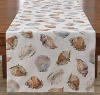"""15"""" x 54"""" White Seashells Table Runner"""