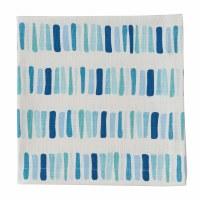 "20"" Square Blue and Aqua Oceana Blocks Cloth Napkin"