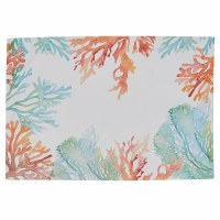 "13"" x 19"" Blue, Green and Orange Coral Reef Placemat"