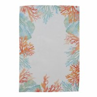 """18"""" x 26"""" Blue, Green and Orange Coral Reef Kitchen Towel"""