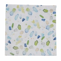 "20"" Square Blue and Green Sea Glass Cloth Napkin"