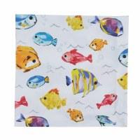 """20"""" Square Multicolor Fish Below the Sea Cloth Napkin"""