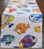"15"" x 72"" Multicolor Fish Below the Sea Table Runner"