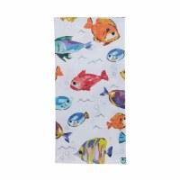 "18"" x 26"" Multicolor Fish Below the Sea Kitchen Towel"