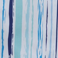 """15"""" x 72"""" Blue and Aqua Below the Sea Striped Table Runner"""