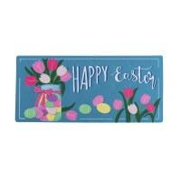 """10"""" x 22"""" Happy Easter Sassafras Doormat"""
