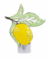 "4"" Yellow Lemon Metal Night Light"