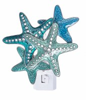 "4"" Blue Starfish Metal Night Light"