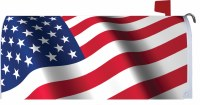 "7"" x 17"" Waving American Flag Mailbox Cover"