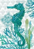 "28"" x 40"" Turquoise Elegant Seahorse Flag"