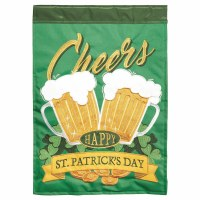 "18"" x 13"" Mini Cheers St. Patrick's Day Garden Flag"