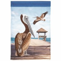 "18"" x 13"" Mini Pelican Pier Garden Flag"