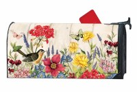 """7"""" x 19"""" Muticolor Floral Bloom With Grace Mailbox Cover"""