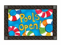 "18"" x 30"" Multicolor Pools Open! Doormat"