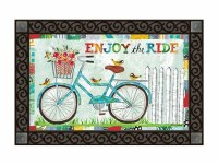 "18"" x 30"" Turquoise Bike Enjoy the Ride Doormat"