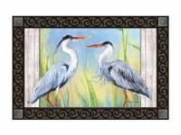 """18"""" x 30"""" Blue Herons Doormat"""