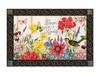 "18"" x 30"" Bloom With Grace Floral Doormat"