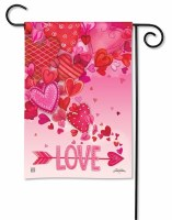 """13"""" x 18"""" Mini Pink and Red Love Hearts Garden Flag"""