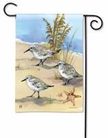 """13"""" x 18"""" Mini Sandpiper Beach Trio Garden Flag"""