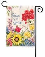 "13"" x 18"" Mini Multicolor Floral Bloom With Grace Garden Flag"