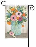 "13"" x 18"" Mini Multi Pastels Floral Jar Blossom and Bloom Garden Flag"