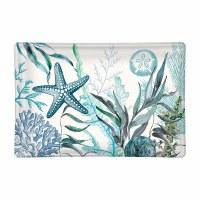 "6"" Ocean Tide Rectangular Glass Soap Dish"