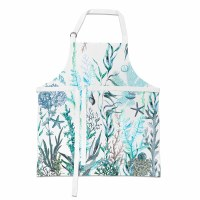 "32"" x 28"" Ocean Tide Cotton Apron"
