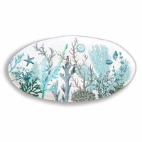 "10"" x 19"" Oval Ocean Tide Melamine Serving Platter"