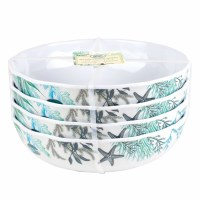 "7"" Round Ocean Tide Melamine Bowl Sold Individually"