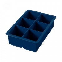 "Deep Indigo Silicone King 2"" Ice Cube Tray"