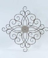 """36"""" Round Center Scroll Metal Wall Plaque"""