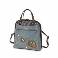 """11"""" Indigo Turtle Convertible Backpack"""