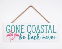 "7"" x 20"" Gone Coastal Wall Plaque With Jute String"