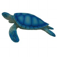 """4"""" Bright Blue Polyresin Sea Turtle Figurine"""