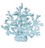 """14"""" Light Blue Polyresin Faux Coral Tree"""