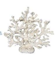 "14"" White Polyresin Faux Coral Tree"
