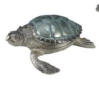 """9"""" Blue and Silver Turtle Box"""