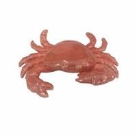 """7"""" Coral Ceramic Crab Figurine"""