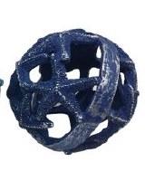 """5"""" Dark Blue Polyresin Starfish Orb"""