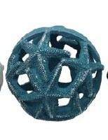 """5"""" Dark Mint Polyresin Starfish Orb"""