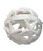 "5"" White Polyresin Starfish Orb"