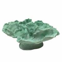 "17"" Mint Polyresin Faux Coral Sculpture"
