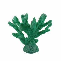 """14"""" Dark Mint Faux Coral Tree Sculpture"""