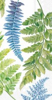 """5"""" x 8"""" Blue and Green Fronds Guest Towels"""