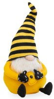 "18"" Big Beauregard Bee Gnome With Yellow and Black Striped Hat"