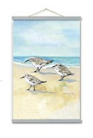 "45"" x 30"" Sandpiper Beach Trio Wall Art"